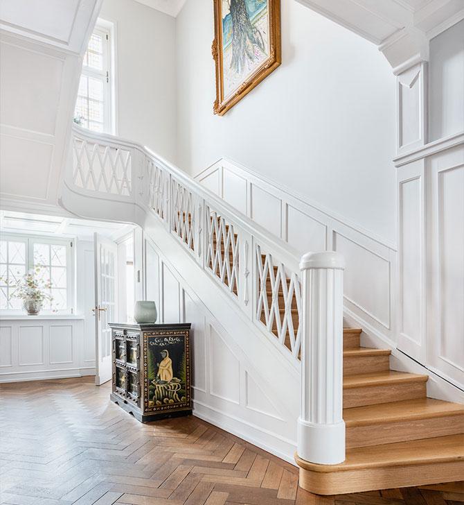 Alte Villa Innenarchitektur Renoviert Eingangsbereich