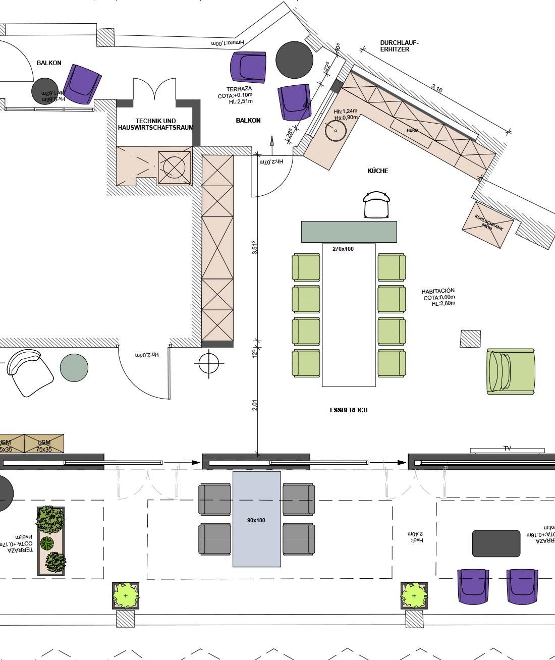 Grundriss Penthouse J. Brücker auf Mallorca