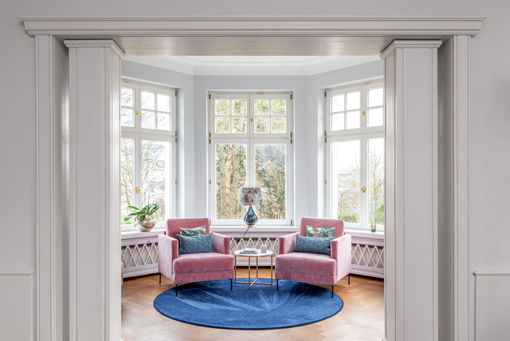 Lesesaal Innenarchitektur Mülheim Villa Wohnhaus