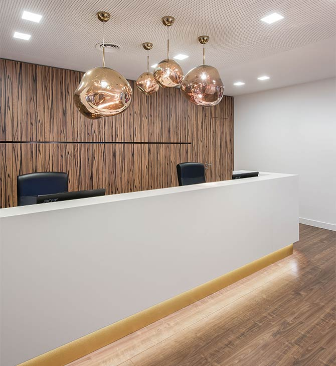 Innenarchitekt Duesseldorf Praxisempfang Dr Hofmann
