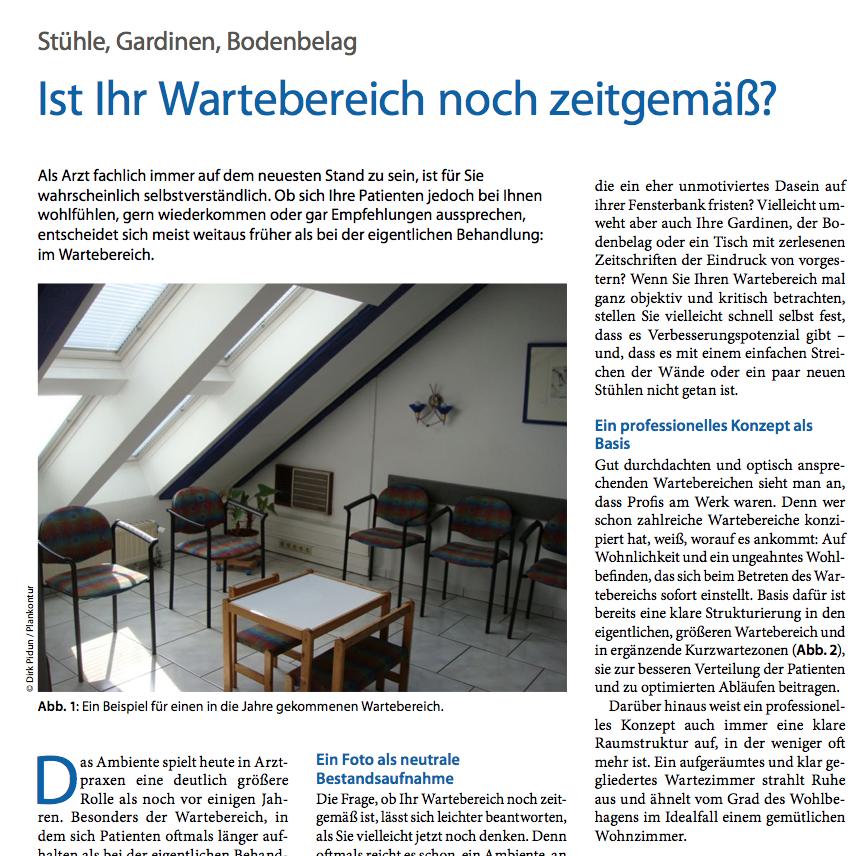 Artikel von Dirk Pidun zu zeitgemäßen Wartebereichen