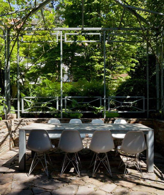Plankontur Düsseldorf Gestaltung einer Gartensitzecke