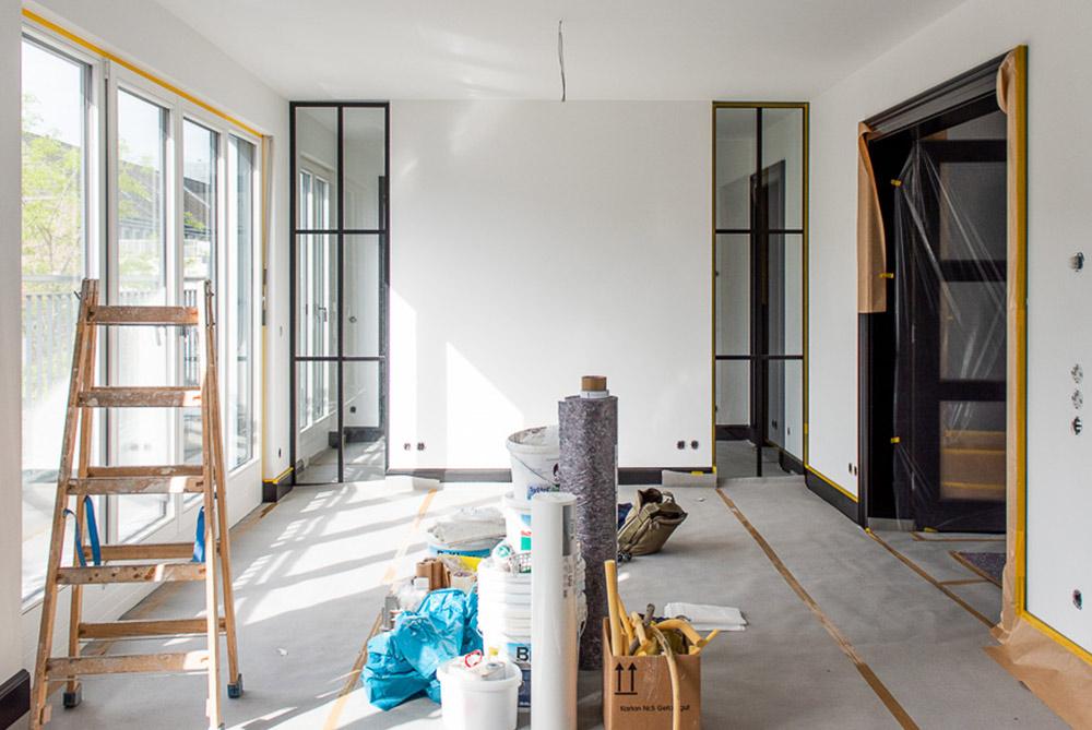 Innenarchitekt Baustelle Wohnzimmer Privatwohnung