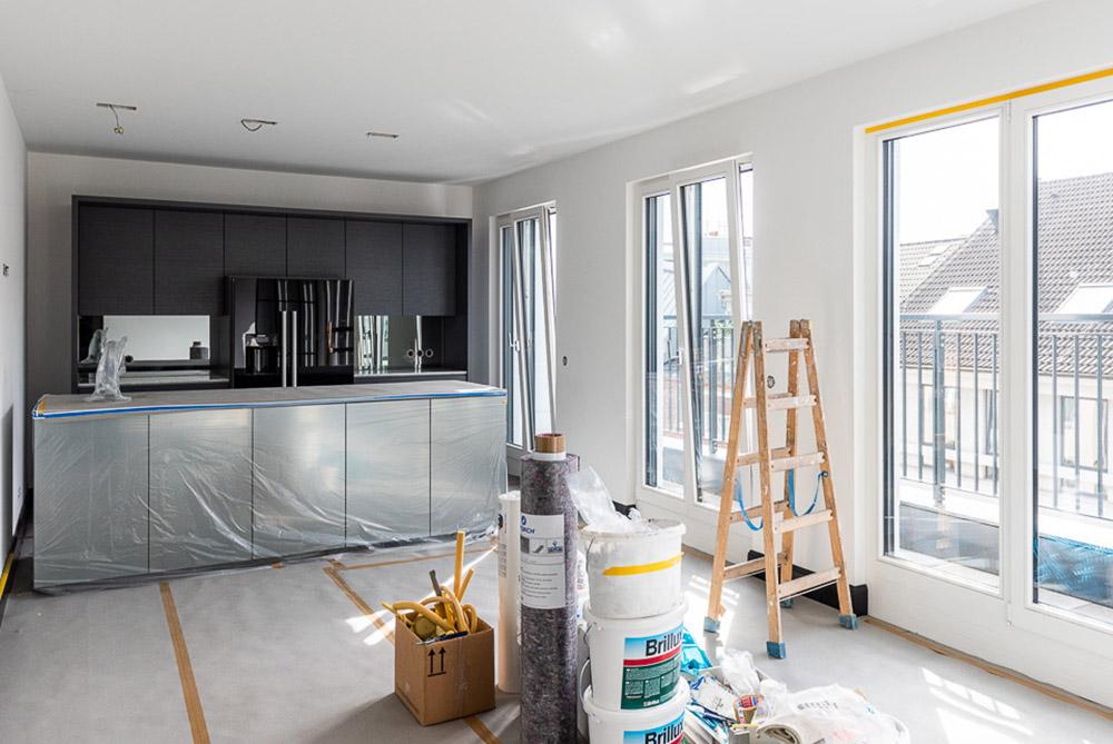Innenarchitektur Küche Baustelle